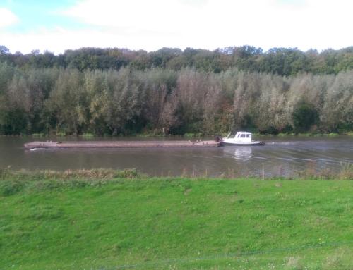 Duw- Sleepboot DUO op de Linge